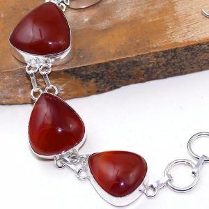 Crn 153c bracelet medieval cornaline carnelian achat vente bijoux argent 925