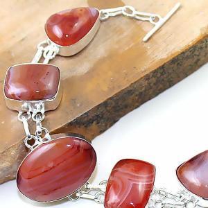 Crn 154c bracelet medieval cornaline carnelian achat vente bijoux argent 925