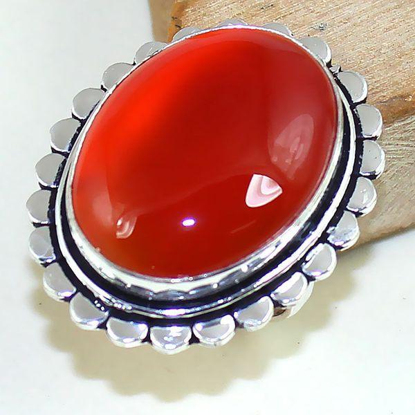Crn 168a bague medievale t58 cornaline carnelian achat vente bijou pierre taillee lithitherapie