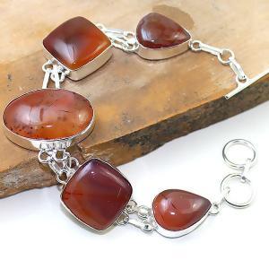 Crn 169a bracelet cornaline carnelian achat vente bijoux argent 925