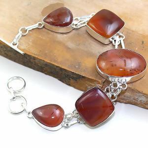 Crn 169d bracelet cornaline carnelian achat vente bijoux argent 925