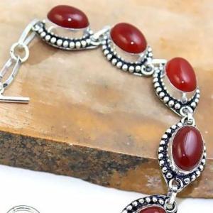 Crn 170b bracelet cornaline carnelian achat vente bijoux argent 925