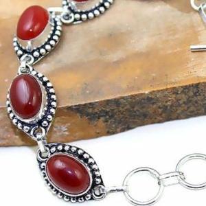 Crn 170c bracelet cornaline carnelian achat vente bijoux argent 925