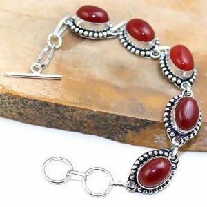 Crn 170d bracelet cornaline carnelian achat vente bijoux argent 925