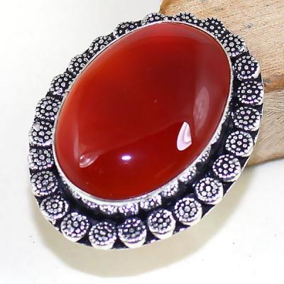 Crn 173a bague medievale t55 cornaline carnelian achat vente bijou pierre taillee lithitherapie