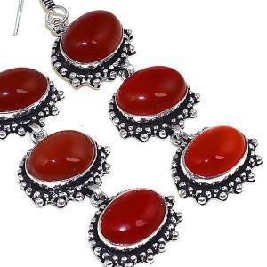 Crn 174c boucles oreilles pendants cornaline carnelian achat vente bijoux argent 925