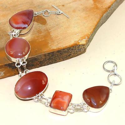 Crn 186a bracelet cornaline carnelian achat vente bijoux ethnique medieval argent 925