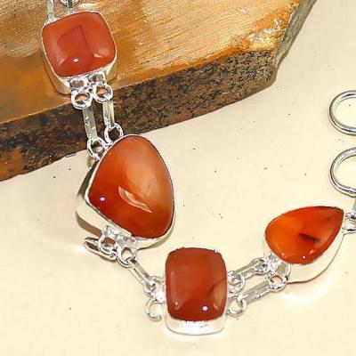 Crn 188b bracelet cornaline carnelian achat vente bijoux ethnique medieval argent 925