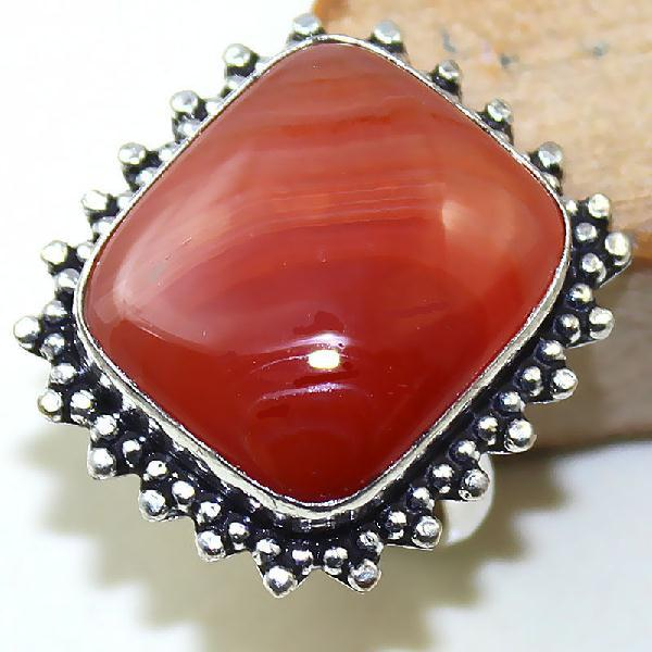 Crn 191a bague medievale t58 cornaline carnelian achat vente bijou pierre taillee lithitherapie