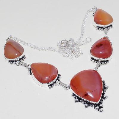 Crn 194a collier parure sautoir cornaline carnelian achat vente bijoux argent 925