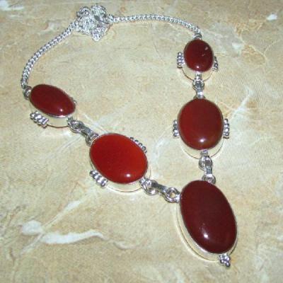 Crn 209a collier parure sautoir cornaline carnelian achat vente bijoux argent 925