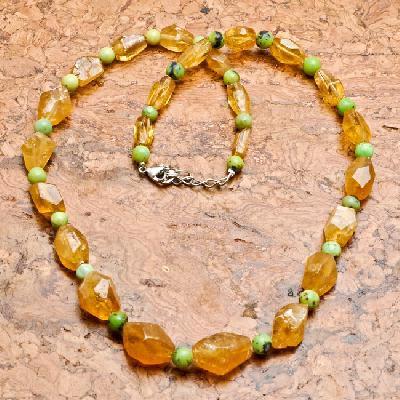 Ct 0015a collier parure sautoir perles de citrine turquoise achat vente argent 925