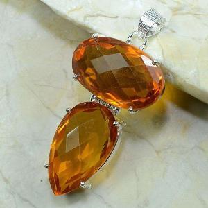 Ct 0021b pendant pendentif citrine argent 925 achat vente bijou
