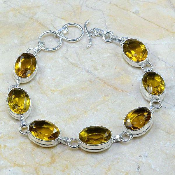 Ct 0023a bracelet citrine argent 925 bijoux achat vente