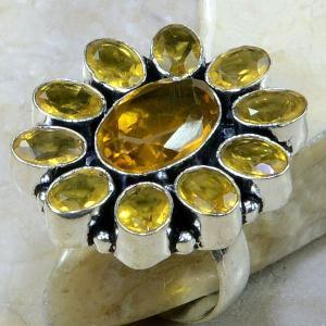 Ct 0030a bague t62 citrine lemon argent 925 bijoux achat vente