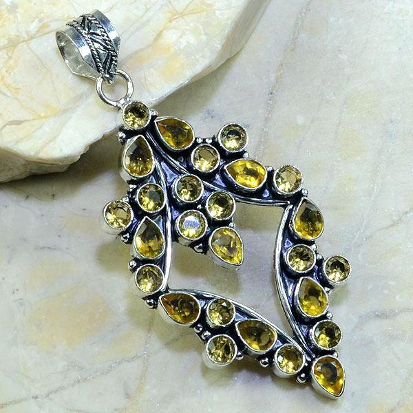 Ct 0032a pendentif pendant citrine argent 925 bijoux achat vente