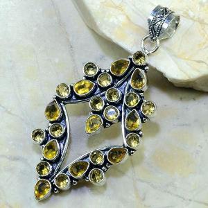 Ct 0032b pendentif pendant citrine argent 925 bijoux achat vente