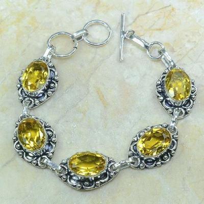 Ct 0033a bracelet citrine argent 925 bijoux achat vente