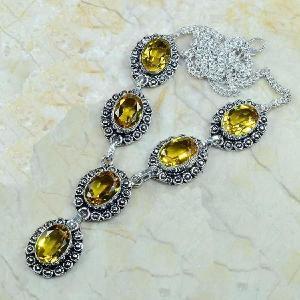 Ct 0039c collier sautoir parure citrine argent 925 achat vente bijou