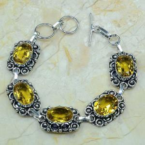 Ct 0046a bracelet citrine argent 925 bijoux achat vente