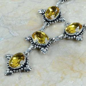 Ct 0047b collier sautoir parure citrine argent 925 achat vente bijou