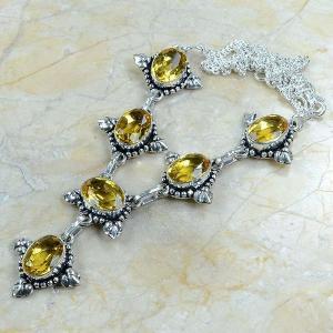 Ct 0047c collier sautoir parure citrine argent 925 achat vente bijou