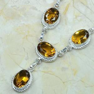 Ct 0048b collier sautoir parure citrine argent 925 achat vente bijou