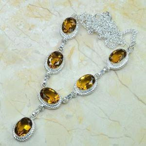 Ct 0048c collier sautoir parure citrine argent 925 achat vente bijou