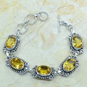 Ct 0051a bracelet citrine argent 925 bijoux achat vente