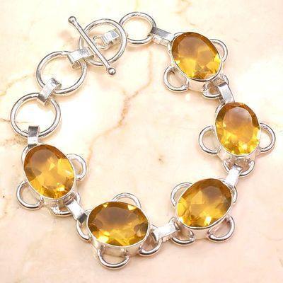 Ct 00531a bracelet 23gr citrine lemon citron doree argent 925 bijoux achat vente