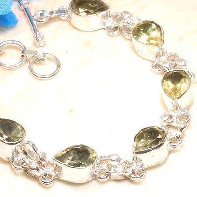 Ct 00533b bracelet citrine lemon citron doree argent 925 bijoux achat vente