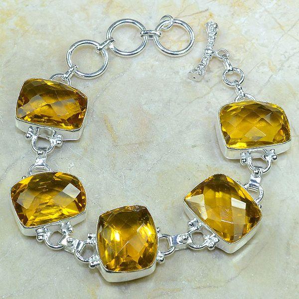 Ct 0053a bracelet citrine argent 925 bijoux achat vente