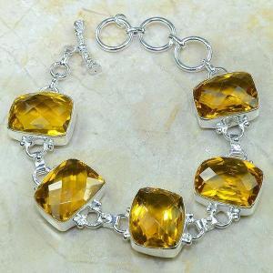 Ct 0053c bracelet citrine argent 925 bijoux achat vente