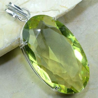 CT-0055 - Enorme PENDENTIF PENDANT 70 mm en CITRINE lemon green - 175 carats - 35 gr