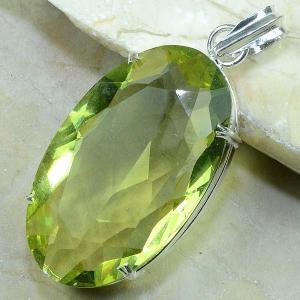 Ct 0055b pendentif pendant citrine argent 925 bijoux achat vente