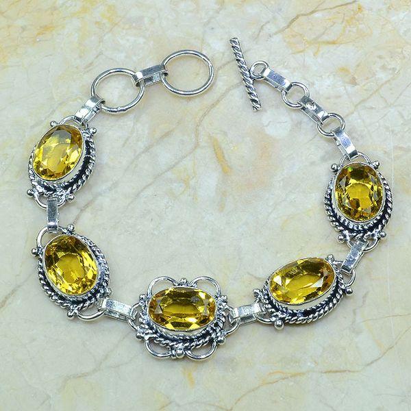 Ct 0057a bracelet citrine argent 925 bijoux achat vente