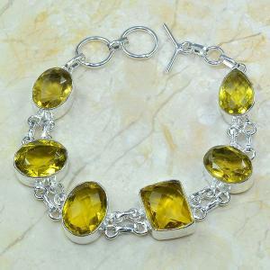 Ct 0058a bracelet citrine argent 925 bijoux achat vente