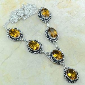 Ct 0059a collier sautoir parure citrine argent 925 achat vente bijou