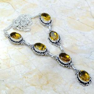 Ct 0060a collier sautoir parure citrine argent 925 achat vente bijou