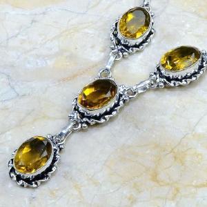 Ct 0060b collier sautoir parure citrine argent 925 achat vente bijou