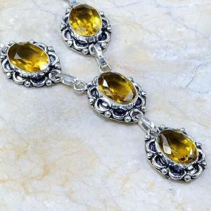 Ct 0062b collier sautoir parure citrine argent 925 achat vente bijou