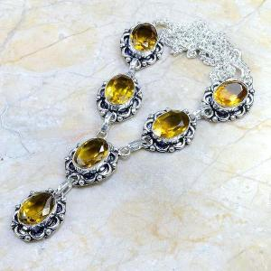 Ct 0062c collier sautoir parure citrine argent 925 achat vente bijou