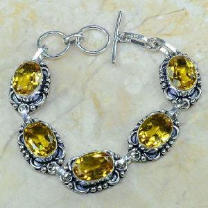 Ct 0063a bracelet citrine argent 925 bijoux achat vente