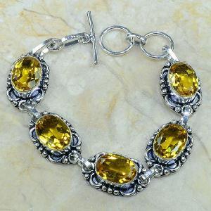 Ct 0063c bracelet citrine argent 925 bijoux achat vente