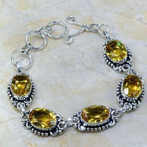 Ct 0064a bracelet citrine argent 925 bijoux achat vente