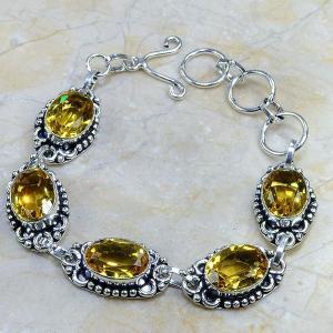 Ct 0064c bracelet citrine argent 925 bijoux achat vente