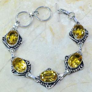 Ct 0065a bracelet citrine argent 925 bijoux achat vente