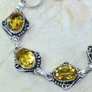 Ct 0065b bracelet citrine argent 925 bijoux achat vente