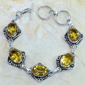 Ct 0065c bracelet citrine argent 925 bijoux achat vente