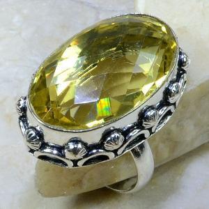 Ct 0066a bague t60 citrine argent 925 bijoux achat vente